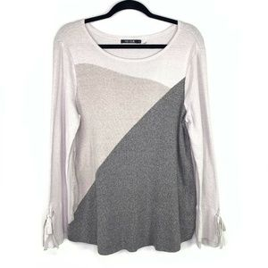 NIC+ZOE Womens Sz L Grays Knit Long Sleeve